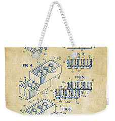 Vintage 1961 Toy Building Brick Patent Art Weekender Tote Bag