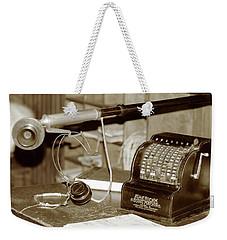 Vintage Adding Machine Weekender Tote Bag