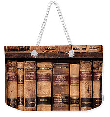 Vintage American Law Books Weekender Tote Bag by Jill Battaglia