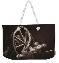 Vintage Apple Basket Still Life Weekender Tote Bag
