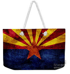Vintage Arizona Flag Weekender Tote Bag by Jon Neidert