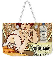 Vintage Art Nouveau Bechers Original Bitter 1807 Weekender Tote Bag
