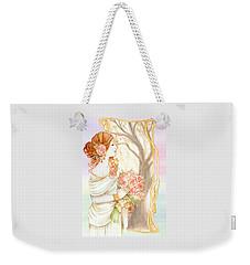 Vintage Art Nouveau Flower Lady Weekender Tote Bag