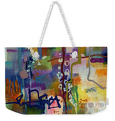 Weekender Tote Bag featuring the painting Vintage Atelier 2 by Hailey E Herrera