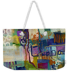 Weekender Tote Bag featuring the painting Vintage Atelier by Hailey E Herrera