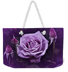 Vintage Aug Purple Rose Weekender Tote Bag