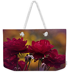 Vintage Aug Red Roses Weekender Tote Bag