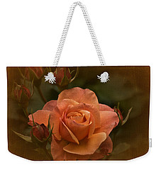 Vintage Aug Rose Weekender Tote Bag