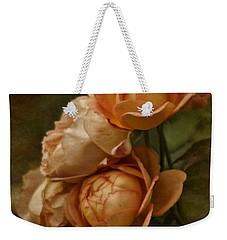 Vintage Aug Roses Weekender Tote Bag
