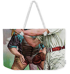 Vintage Baseball Card Weekender Tote Bag