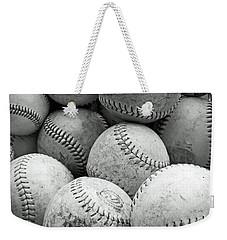 Vintage Baseballs Weekender Tote Bag by Brooke T Ryan