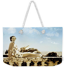 Vintage Beach Beauty Weekender Tote Bag