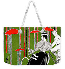 Weekender Tote Bag featuring the photograph Vintage Bicycle Issue 1896 by Padre Art