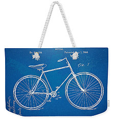Vintage Bicycle Patent Artwork 1894 Weekender Tote Bag