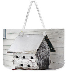 Vintage Martin Birdhouse In The Snow Weekender Tote Bag