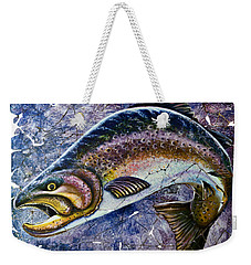 Vintage Blue Trout Fresco  Weekender Tote Bag