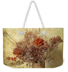 Weekender Tote Bag featuring the photograph Vintage Bouquet by Jessica Jenney