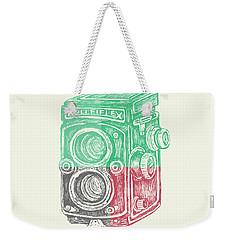 Vintage Camera Color Weekender Tote Bag
