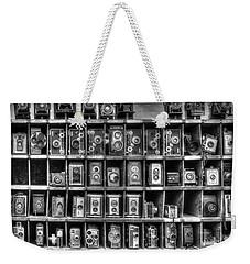 Vintage Camera Matrix Weekender Tote Bag