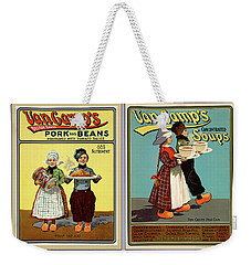 Hans And Lena 1901 Vintage Canned Goods Posters Weekender Tote Bag
