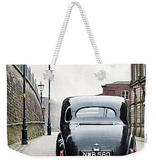 Vintage Car On A Cobbled Street Weekender Tote Bag
