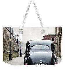 Vintage Car On A Cobbled Street Weekender Tote Bag by Lee Avison