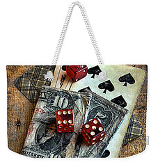 Vintage Cards Dice And Cash Weekender Tote Bag