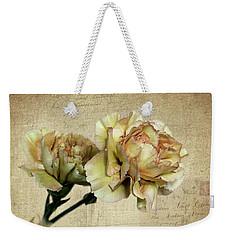 Vintage Carnations Weekender Tote Bag