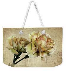 Vintage Carnations Weekender Tote Bag by Judy Vincent