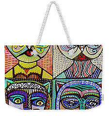 Vintage Cat Ladies Weekender Tote Bag