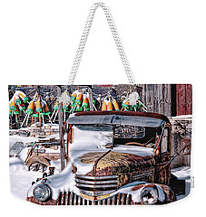 Weekender Tote Bag featuring the photograph Vintage Chevrolet by Richard Bean