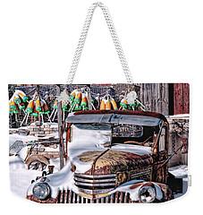 Vintage Chevrolet Weekender Tote Bag by Richard Bean