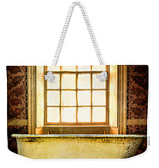 Vintage Clawfoot Bathtub By Window Weekender Tote Bag