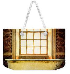 Vintage Clawfoot Bathtub By Window Weekender Tote Bag by Jill Battaglia