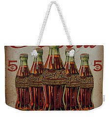 Weekender Tote Bag featuring the photograph vintage Coca Cola sign by Chris Flees