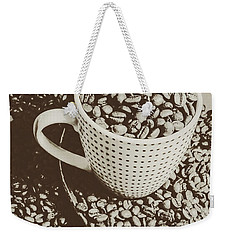 Vintage Coffee Art. Stimulant Weekender Tote Bag by Jorgo Photography - Wall Art Gallery