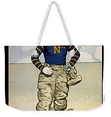 Vintage College Football Annapolis Weekender Tote Bag by Pd