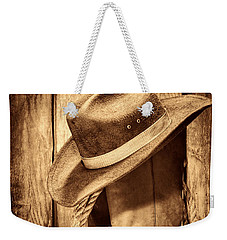 Vintage Cowboy Boots Weekender Tote Bag by American West Legend By Olivier Le Queinec