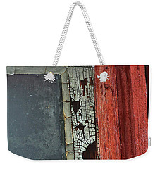 Weekender Tote Bag featuring the photograph Vintage Crackle by Ann E Robson