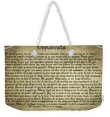 Vintage Desiderata Weekender Tote Bag