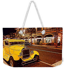 Vintage Dreams And City Lights Weekender Tote Bag by Mary Lou Chmura