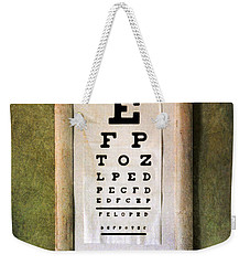 Vintage Eye Chart Weekender Tote Bag