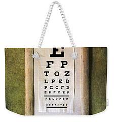 Vintage Eye Chart Weekender Tote Bag by Jill Battaglia