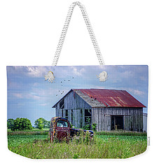 Vintage Farm Find Weekender Tote Bag by Mary Timman
