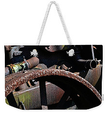 Vintage Farm Tractor Weekender Tote Bag by Michelle Calkins