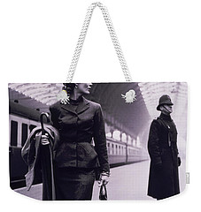 Vintage Fashion Elegant Lady Weekender Tote Bag