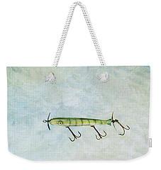 Vintage Fishing Lure Weekender Tote Bag by Stephanie Frey