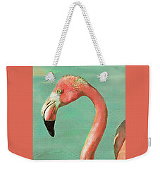 Vintage Flamingo Weekender Tote Bag by Jane Schnetlage