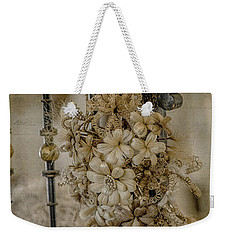 Vintage Floral Swag On A Bedpost Weekender Tote Bag