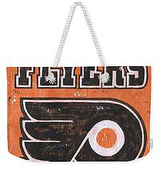 Vintage Flyers Sign Weekender Tote Bag by Debbie DeWitt